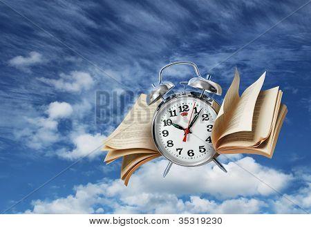 Conceito de história do tempo voa