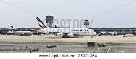 An Airfrance Airbus At Washington Dulles International Airport