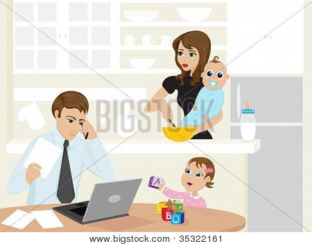 Busy Family