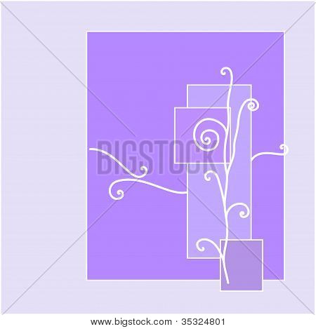 abstract violet rectangles ornament