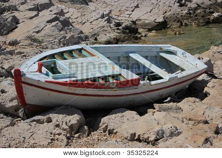 Old Boat Resting Ashore