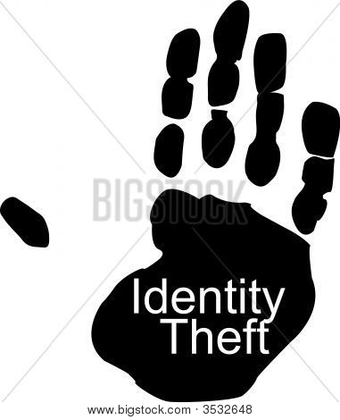 Hand With Identity Theft.