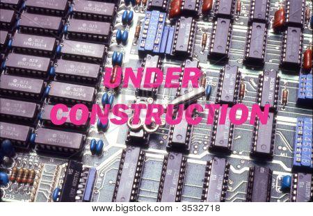 Under Construction Message -E