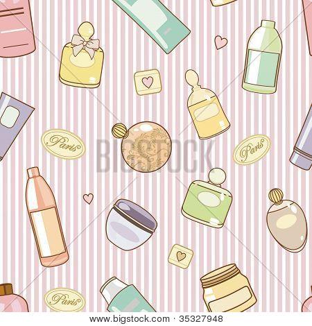 Cosmetics-on-pink-pattern