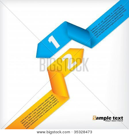 Abstract Business Brochure Design With Ribbons