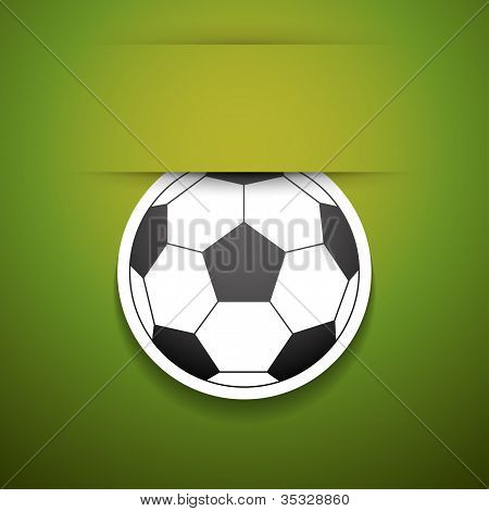 Football Sticker With Place For Text.