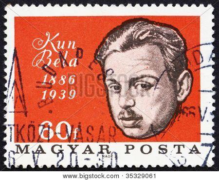 Postage stamp Hungary 1966 Bela Kun