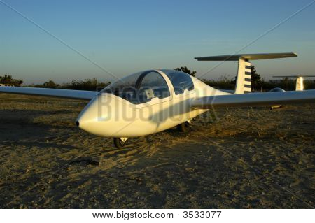 Sailplane Awaiting Launch