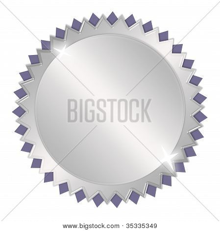 Blank silver award medal