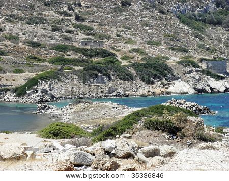 Remains of the ancient port of Knidos.