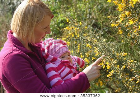 Smelling flowers for the first time