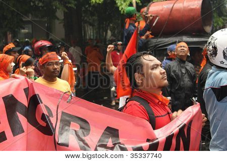 Traders Held A Demonstration
