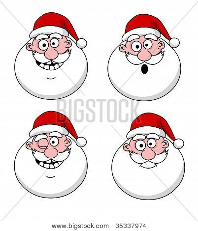 Funny Santa Claus Heads