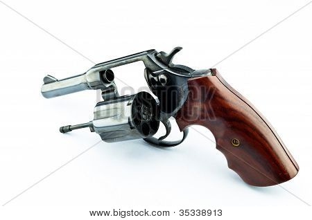 Old Revolver With Bullets