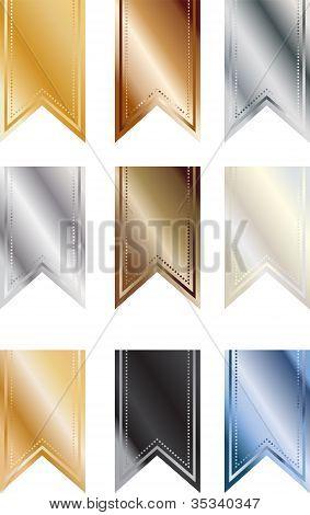 Metallic Pendant Banners