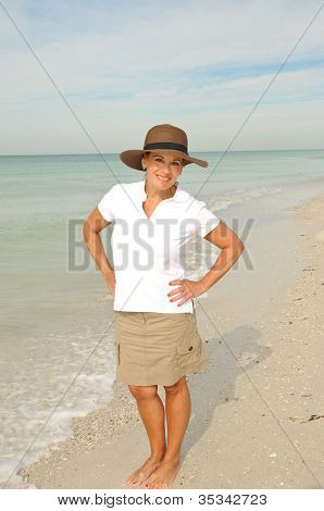 Woman On The Beach