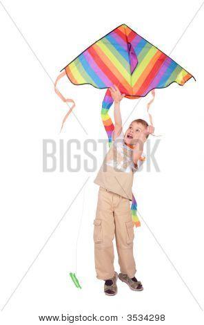 Boy beginnt kite