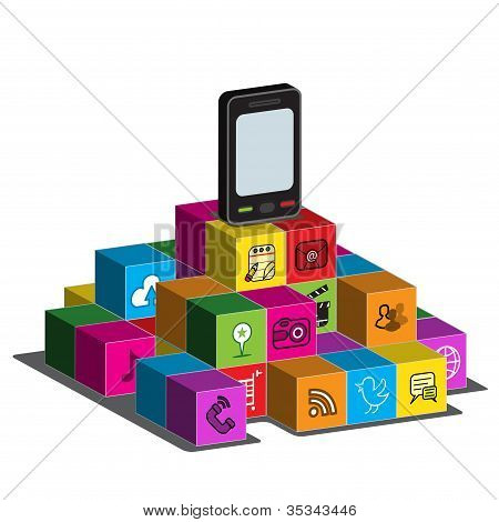 Smartphone on Application Blocks