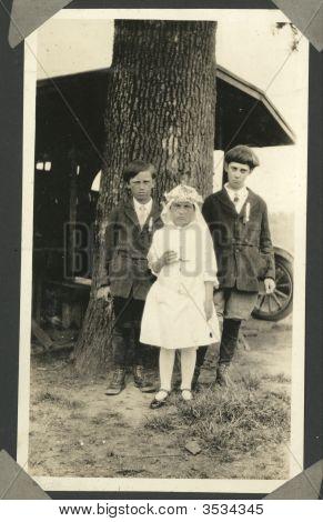 Vintage Family Photo Of Children