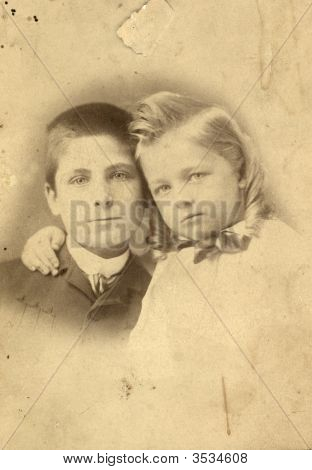 Vintage Family Photo Of Children