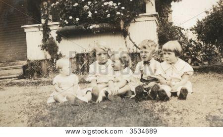 Foto de niños Vintage