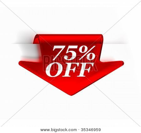 Seventy Five Percent Off