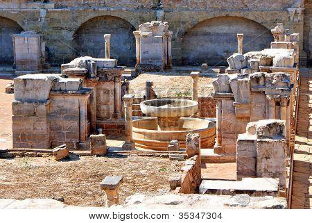 Cloister ruins of Santa Clara Velha in Coimbra