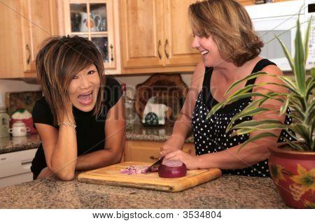 gute Klatsch in der Küche