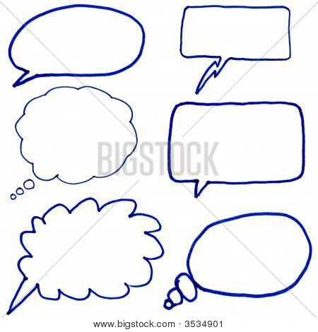 Hand Drawn Thought Bubbles