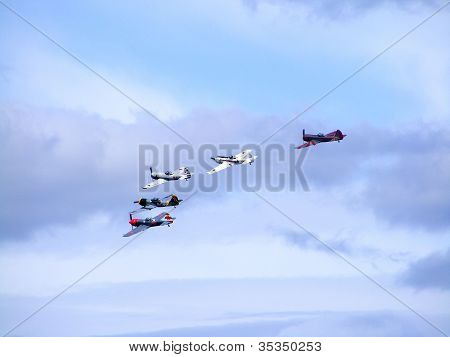 Tukums, Latvia - August 1: The Great Britain Aerobatic Display Team The Yakovlevs Display At Tukums