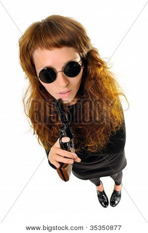 Frau mit einer Pistole