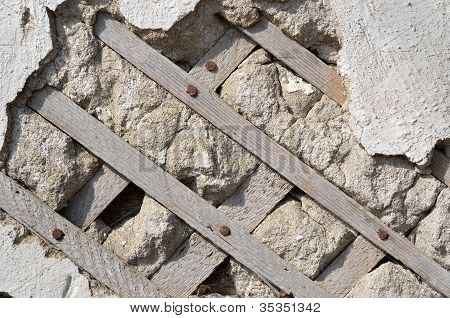 Old Wall With Lath