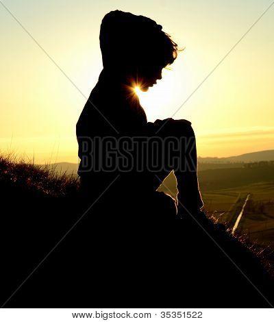 Child At Sunset