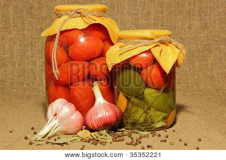 Tinned Cucumbers And Tomatoes
