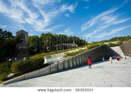 Ewha Womans University Ecc Angled Blue Sky