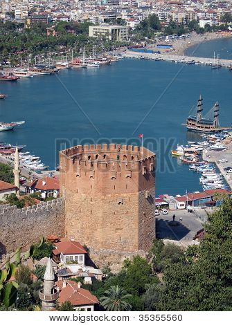 Red Tower Alanya and Harbour