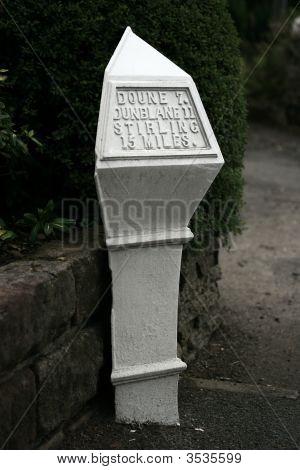 Cast Iron Milepost