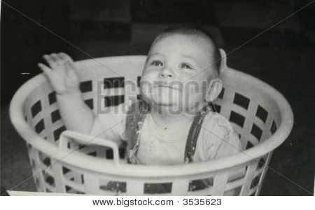 Vintage Family Photo Of A Boy