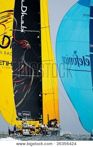 Abu Dhabi Ocean Racing And Telefonica On A Run