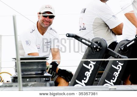 Happy Crew On Abu Dhabi Ocean Racing