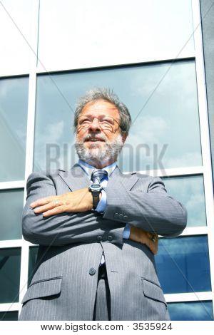 Confident Senior Business Man
