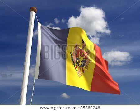 Moldova Flag