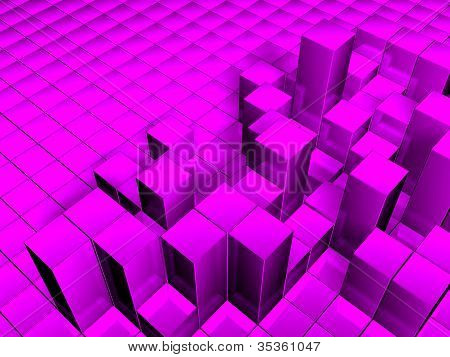 3d cube background