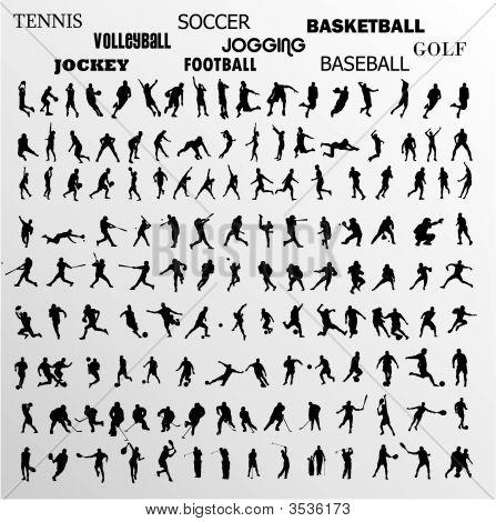 Formas de vetor de esporte