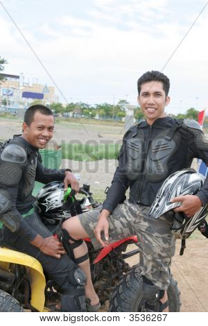 Atv Or Quad Bike Racer