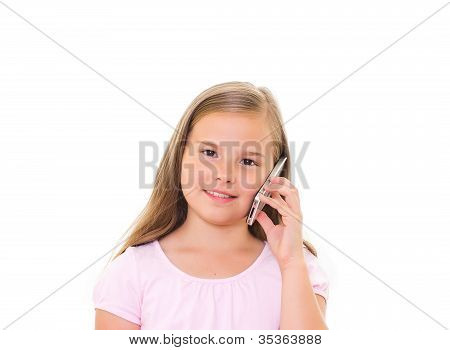 Girl With Iphone.