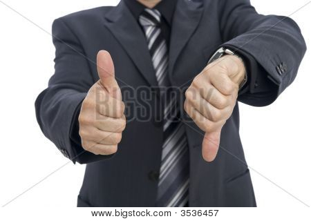 Businessmann Gesturing