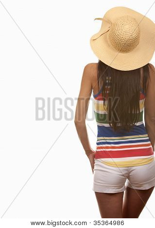Woman In Beach Wear