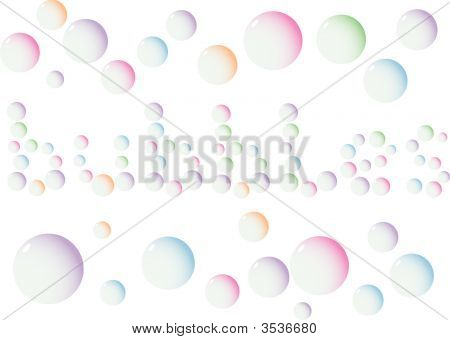 "Vector Illustration Of Word ""Bubbles\"""
