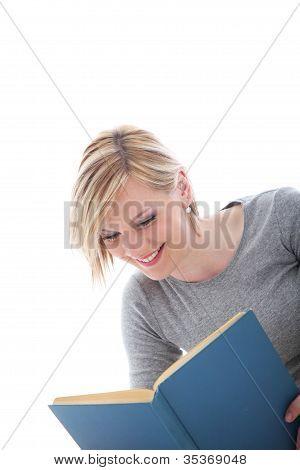 Young Woman Enjoying Her Book
